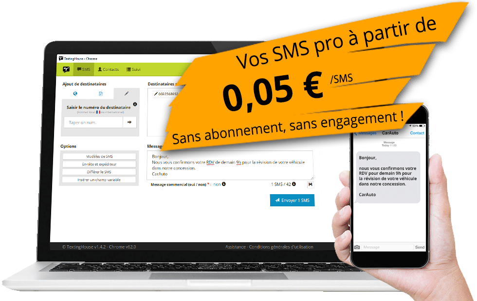 Exemple TextingHouse SMS pro