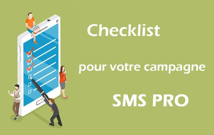 Checklist pour votre campagne SMS PRO